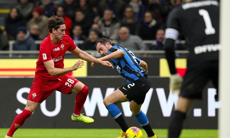 Fiorentina gây nhiều khó khăn cho Inter ở khoảng giữa hiệp hai. Ảnh: CDS.