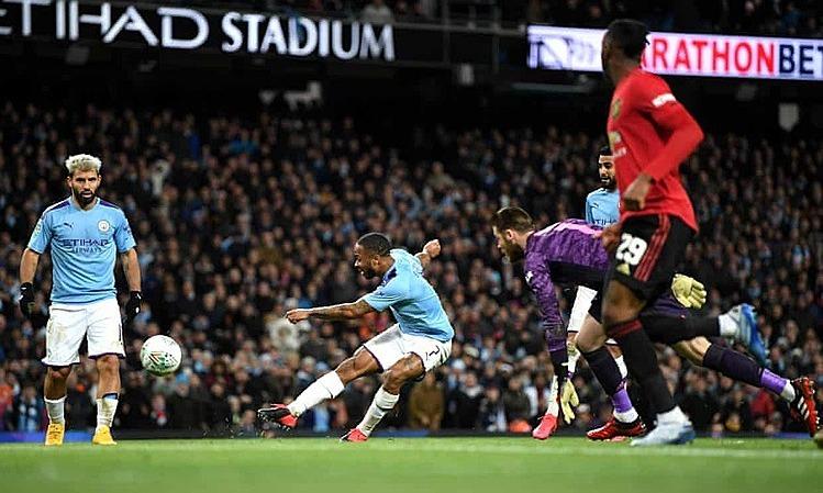 Man City phung phí nhiều cơ hội và lần thứ ba liên tiếp thua Man Utd trên sân nhà. Ảnh: AFP.