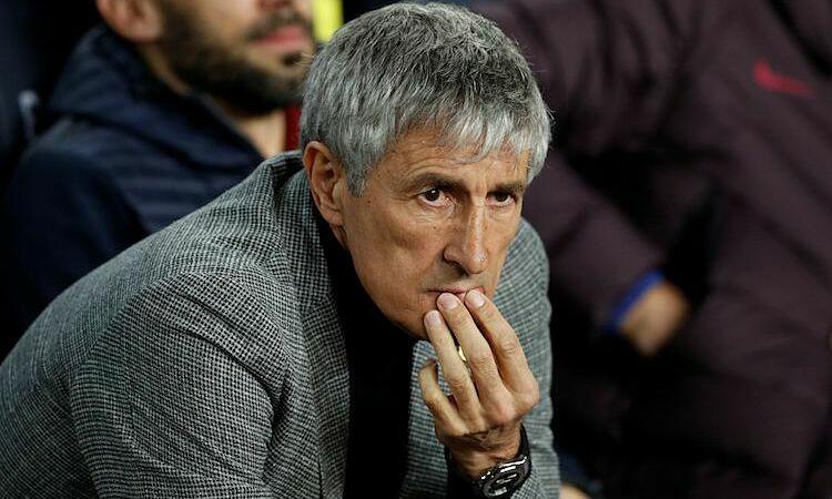 Setien chưa hài lòng dù Barca thắng đậm. Ảnh: AFP.