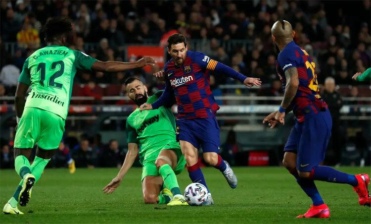 Messi vào sân đồng nghĩa với tỷ lệ chiến thắng cao cho Barca. Ảnh: AP