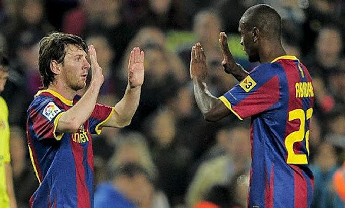 Messi bức xúc vì nhận xét của Abidal. Ảnh: Reuters