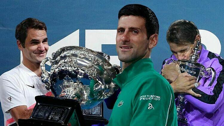 Federer, Djokovic và Nadal giành 56 trong số 65 Grand Slam gần nhất. Ảnh: Eurosport.