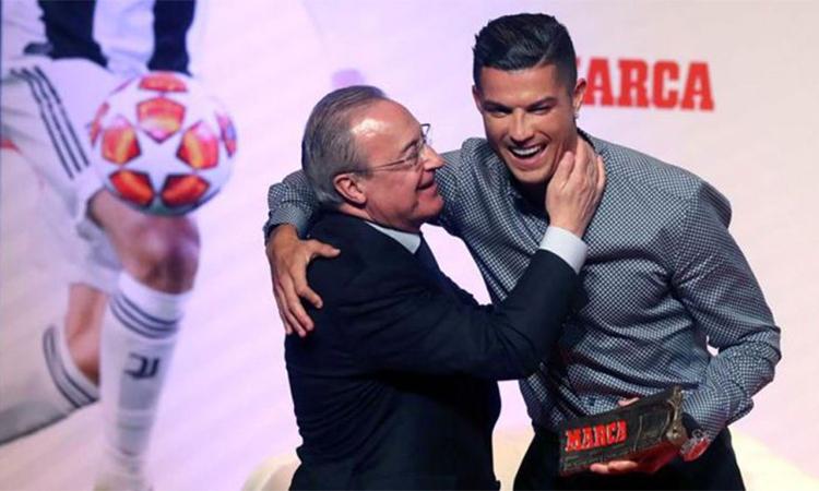 Perez gửi lời chúc mừng sinh nhật Ronaldo. Ảnh: EFE.
