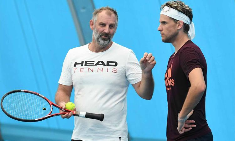 Muster không phù hợp với Thiem như kỳ vọng ban đầu của tay vợt Áo và ban huấn luyện. Ảnh: ATP Tour.