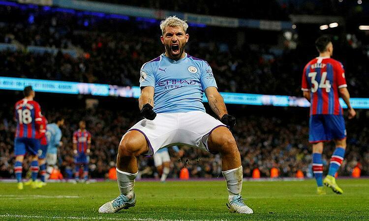 Aguero đã ghi bàn vào lưới 32 đối thủ ở Ngoại hạng Anh. Ảnh: Reuters.