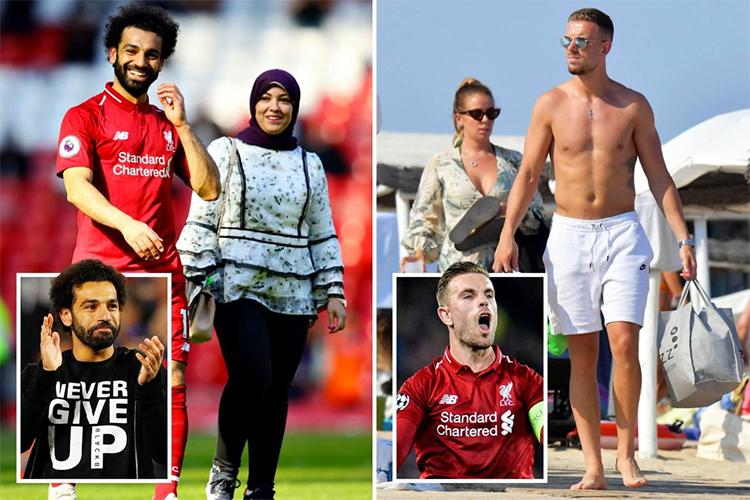 Bà xã của Salah và Henderson nhiều lần xuất hiện với bụng bầu.