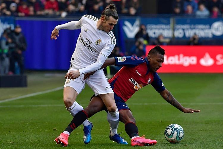Bale lần đầu đá chính ở La Liga kể từ hôm 4/1. Ảnh: AP.