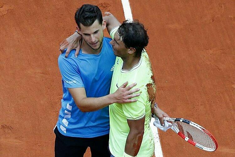 Thiem thua tâm phục khẩu phục Nadal ở hai trận chung kết Roland Garros gần nhất. Ảnh: AP.