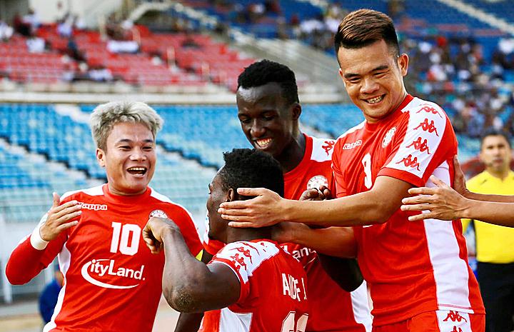 Các cầu thủ TP HCM có một điểm trong lần đầu tiên chơi ở AFC Cup. Ảnh: CLB TP HCM.