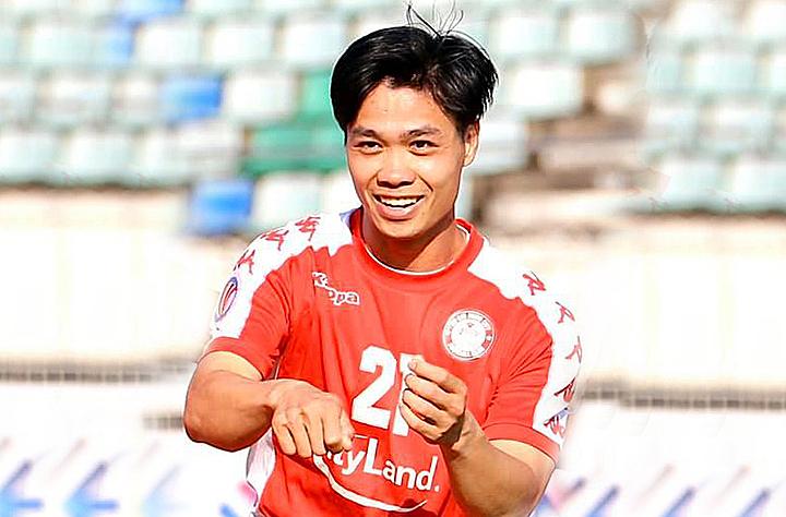 Công Phượng mừng bàn thắng vào lướt Yangon United sau 387 tịt ngòi. Ảnh: CLB TP HCM.