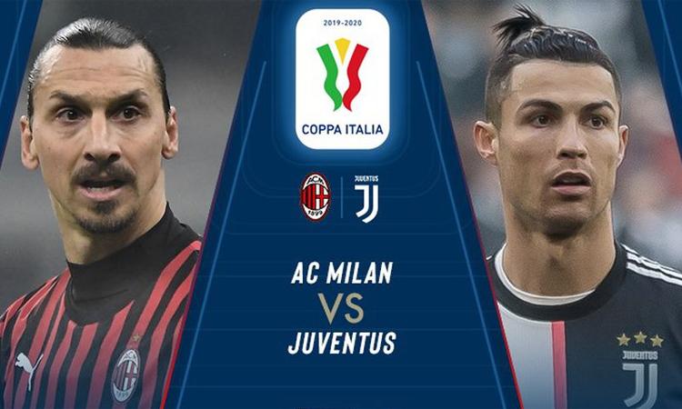 Trận bán kết lượt đi Cup Italy giữa Milan với Juventus diễn ra lúc 2h45 thứ Sáu 14/2, giờ Hà Nội.