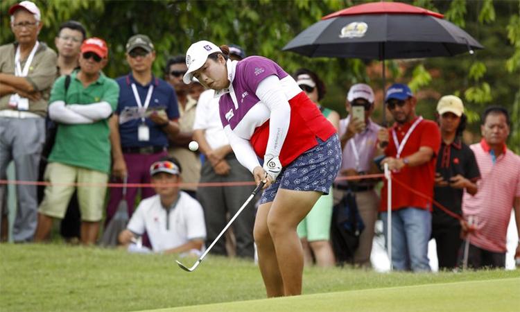 Feng đứng thứ 23 và là golfer Trung Quốc có thứ hạng cao nhất trên Rolex Ranking. Ảnh: AP.