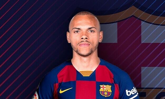 Braithwaite được chiêu mộ để thế chỗ Luis Suarez. Ảnh: Marca.