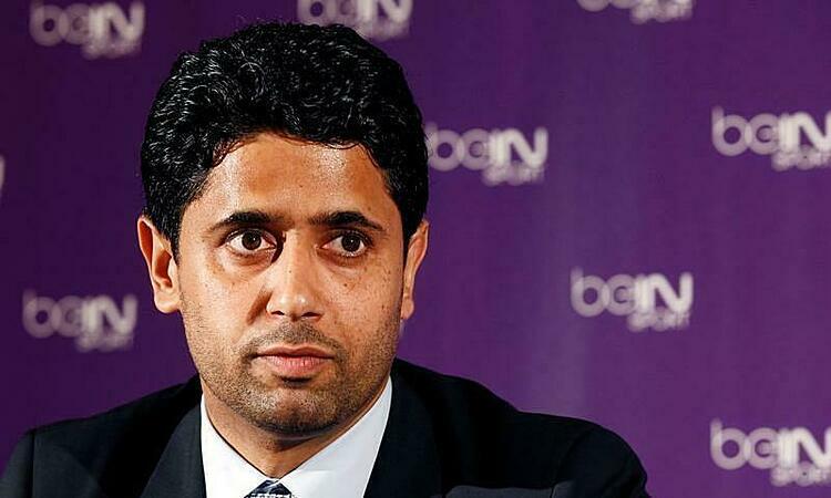 Chủ tịch PSG Nasser Al Khelaifi. Ảnh: Reuters.