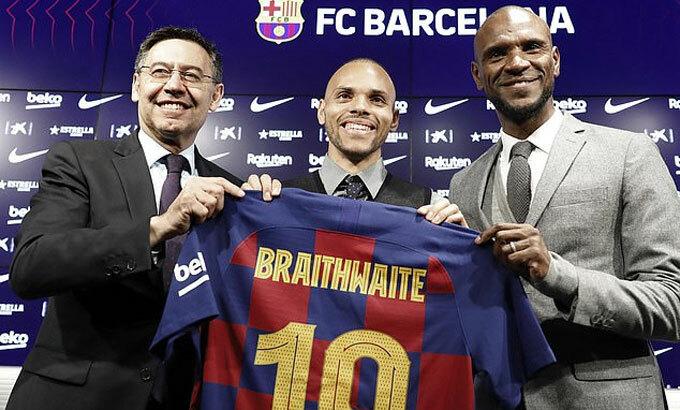 Braithwaite có giá 20 triệu USD. Ảnh: Epa.