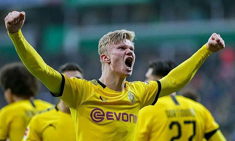 Haaland tiếp đà thăng hoa. Ảnh: Bundesliga.
