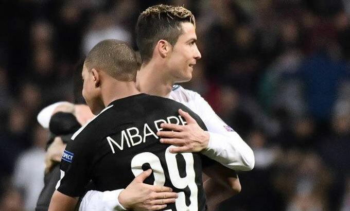 Ronaldo tin Mbappe sẽ sớm lên đỉnh cao bóng đá. Ảnh: AS.