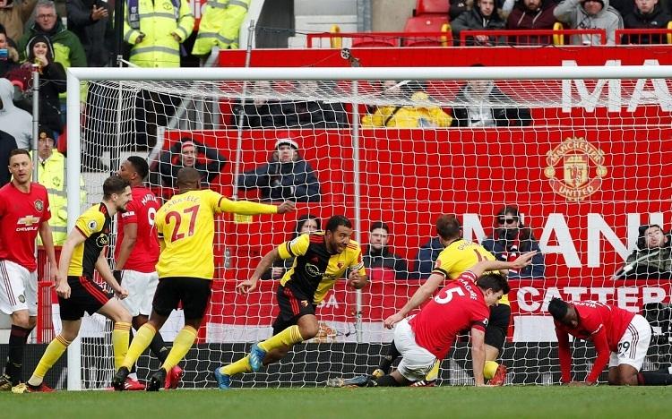 Watford bị từ chối bàn gỡ hòa bởi lỗi để bóng chạm tay. Ảnh: Reuters.