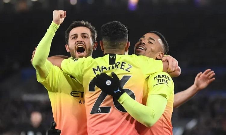 Jesus ghi bàn quan trọng để mang về ba điểm cho Man City. Ảnh:AFP.