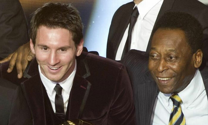 Messi đang có cơ hội vượt qua Vua bóng đá thế kỷ cũ. Ảnh: Reuters.