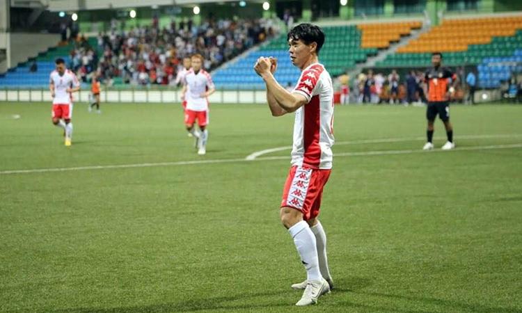 Công Phượng ghi hai bàn trong hai trận đầu tiên cho TP HCM. Ảnh: CLB TPHCM.