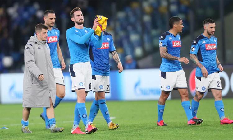 Napoli tiếc nuối khi trận đấu kết thúc. Ảnh: ANSA.