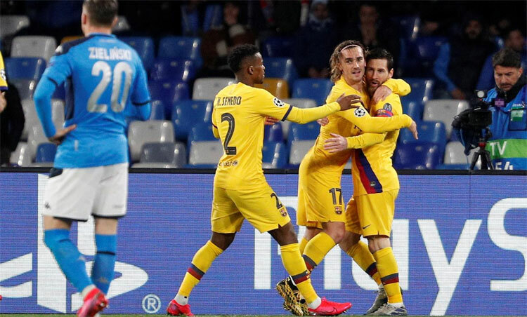 Griezmann cứu Barca thoát thua. Ảnh: Reuters.