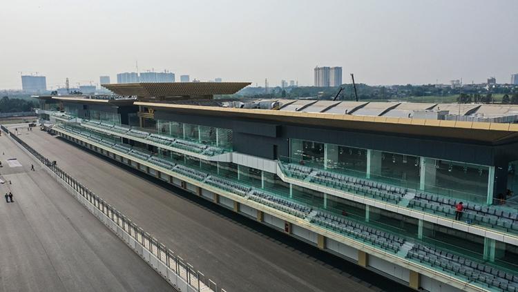 5,607km đường đua F1 tại Mỹ Đình, Hà Nội đã hoàn thành.