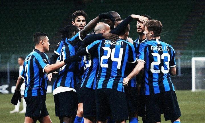 Trận đấu vắng khán giả giữa Inter và Ludogorets. Ảnh: Inter.