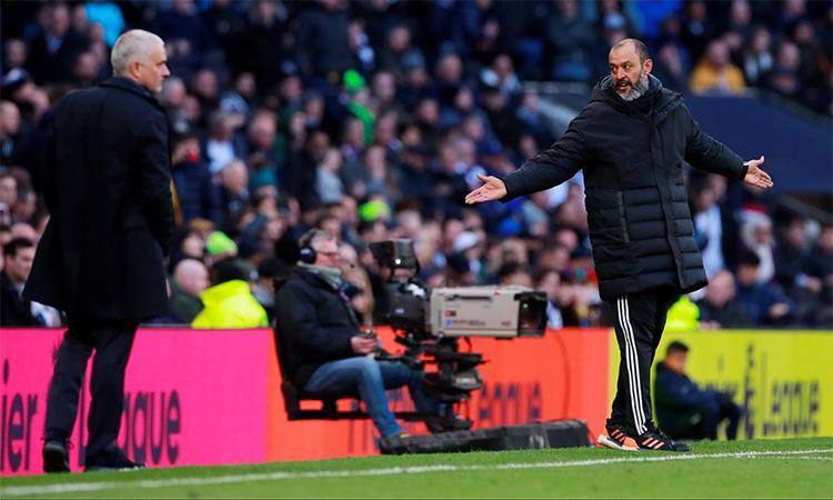 Nuno xem chiến thắng trước thầy cũ Mourinho và Tottenham như mọi chiến thắng khác của ông và Wolves. Ảnh: