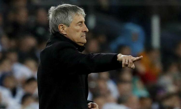 Setien hiểu Real có đủ năng lực thắng Barca. Ảnh: Marca.