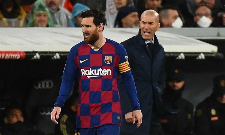 Zidane hài lòng với chiến thắng ở El Clasico. Ảnh: AFP.