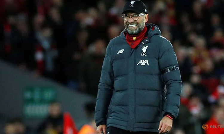 Klopp muốn tiến sâu ở Cup FA, nhằm hoàn tất mộng ăn ba mùa này. Ảnh: Reuters.
