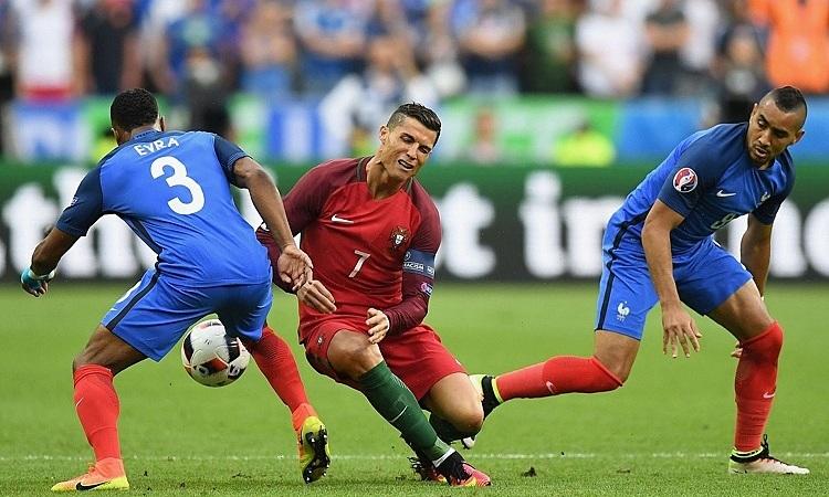 Ronaldo tái ngộ tuyển Pháp - đối thủ của Bồ Đào Nha ở chung kết Euro 2016. Ảnh: AFP.