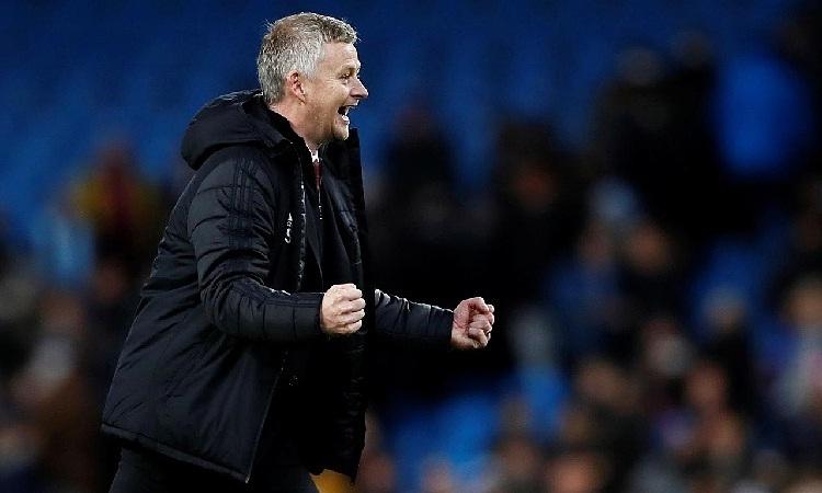 Solskjaer cho rằng Man Utd cần phải tiến bộ hơn nữa. Ảnh: Reuters.