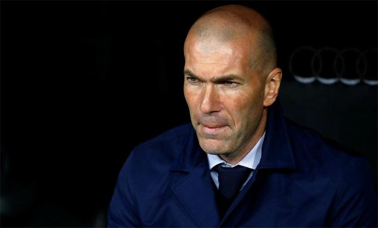 Zidane đang nếm trải khó khăn với Real. Ảnh: Reuters.