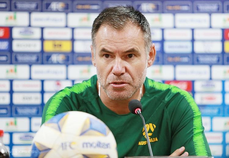 HLV Ante Milicic muốn Australia tiếp tục thắng đậm Việt Nam trong trận đấu chiều 11/3. Ảnh: Lâm Thoả