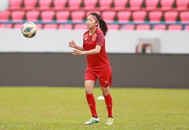 Huỳnh Như đã hoàn toàn bình phục chấn thương, sẵn sàng góp mặt trong đội hình xuất phát khi Việt Nam tiếp Australia. Ảnh: Lâm Thoả