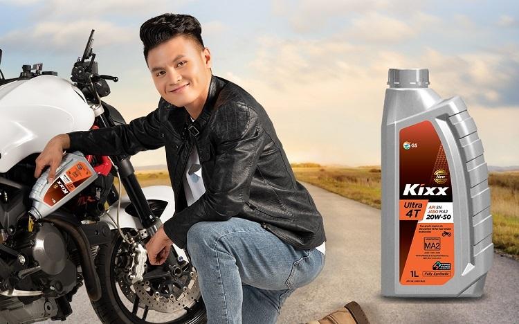 Nguyễn Quang Hải hy vọng có thể thúc đẩy sự phát triển của sản phẩm dầu nhớt Kixx.