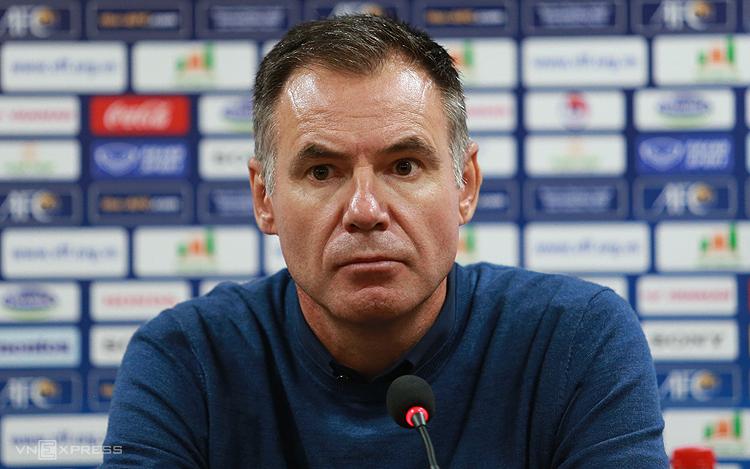 HLV Anthony Milicic thừa nhận đã gặp khó khăn với Việt Nam trong trận đấu trên sân Cẩm Phả ngày 11/3. Ảnh: Lâm Thoả