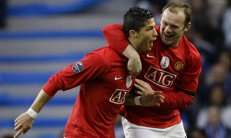 Rooney và Ronaldo thời còn cùng nhau thi đấu cho Man Utd. Ảnh: Reuters.