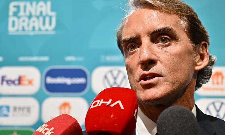 Roberto Mancni nhậm chức HLV trưởng tuyển Italy từ hè 2018 và nhanh chóng giúp đội này lột xác sau khi không qua nỗi vòng loại World Cup 2018. Ảnh: AFP.