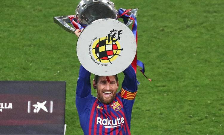 Messi đang sở hữu 10 danh hiệu La Liga với Barca.
