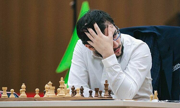 MVL trong ván đấu thứ hai, trận bán kết Cúp Thế giới 2019 gặp Radjabov. Ảnh: Chess.com.