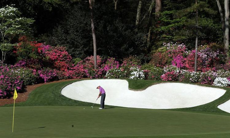 Một golfer trên sân Augusta National. Ảnh: ANGC.