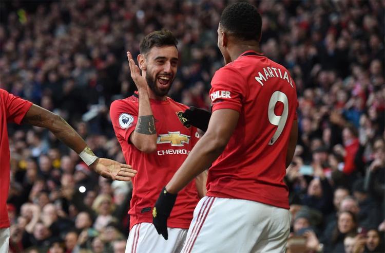 Fernandes đang truyền cảm hứng mạnh mẽ cho các đồng đội ở Man Utd. Ảnh: EPA.
