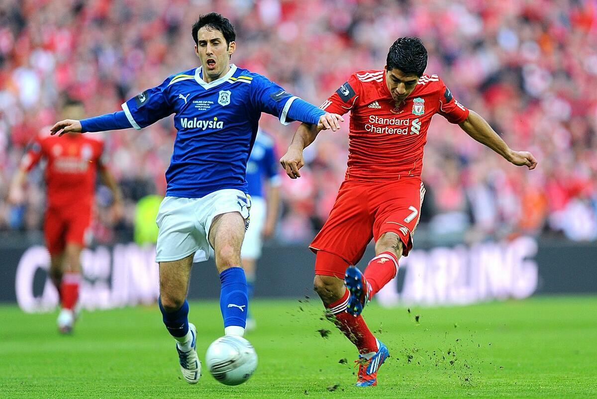 Whittingham (trái) trong trận chung kết Cup Liên đoàn Anh với Liverpool năm 2012. Ảnh: PA.
