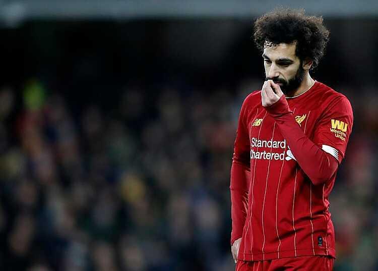 Salah đã ghi 16 bàn tại Ngoại hạng Anh mùa này. Ảnh: AP.