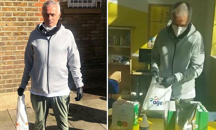 Mourinho giúp đỡ người cao tuổi - ảnh 1