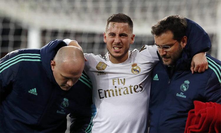Mùa giải của Hazard bị hủy hoại vì chấn thương. Ảnh: AS.